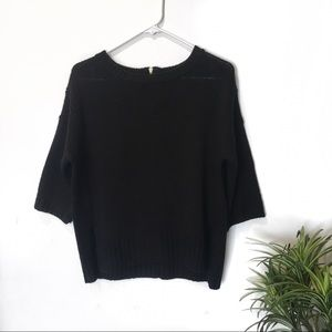 Black Topshop Over Sized Chunky Knitted Sweater